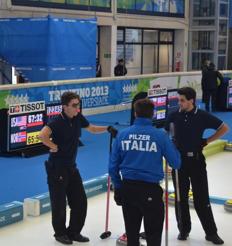 Nel curling maschile delle Universiadi prima vittoria dell'Italia
