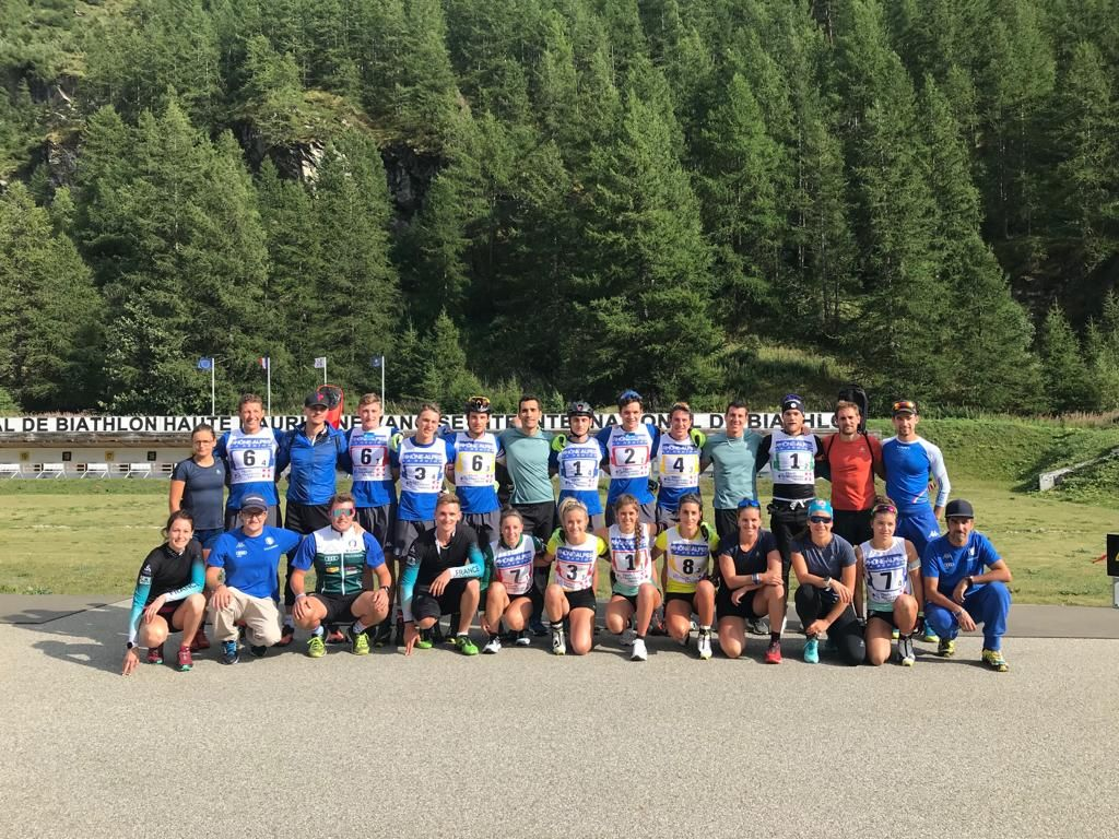 Gli azzurrini del biathlon in compagnia di Martin Fourcade