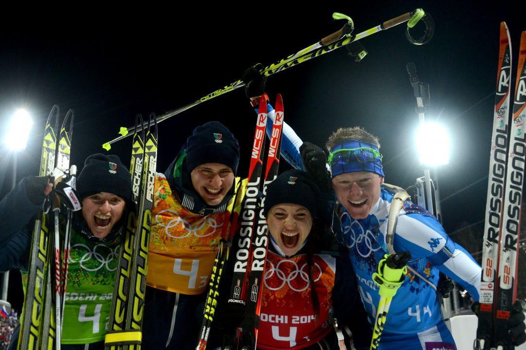 Wierer, Oberhofer, Windisch, Hofer: Italia bronzo! Bjørndalen record nei Giochi invernali