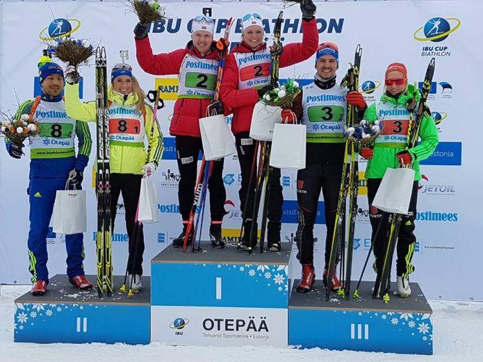 Norvegia e Germanai vincono le prime prove miste di Ibu Cup a Otepää