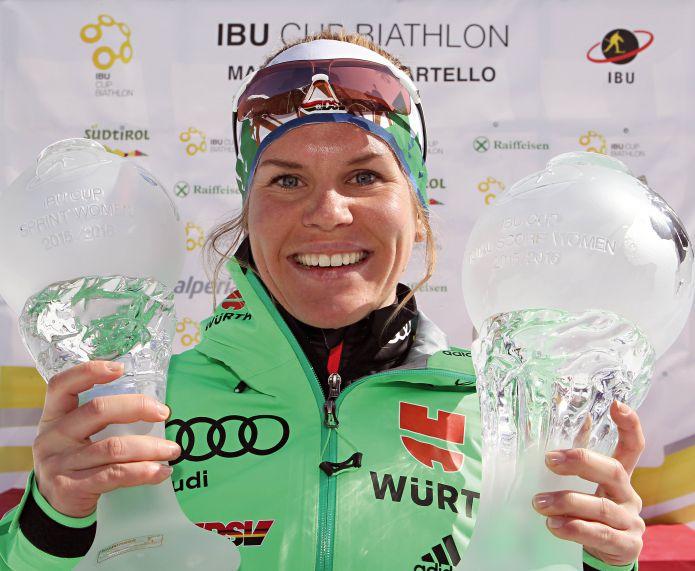 Nadine Horchler, quarta nella sprint della Val Martello, vince l'Ibu Cup femminile
