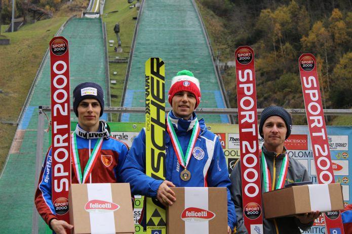 Doppietta di Davide Bresadola ai campionati italiani di salto con gli sci