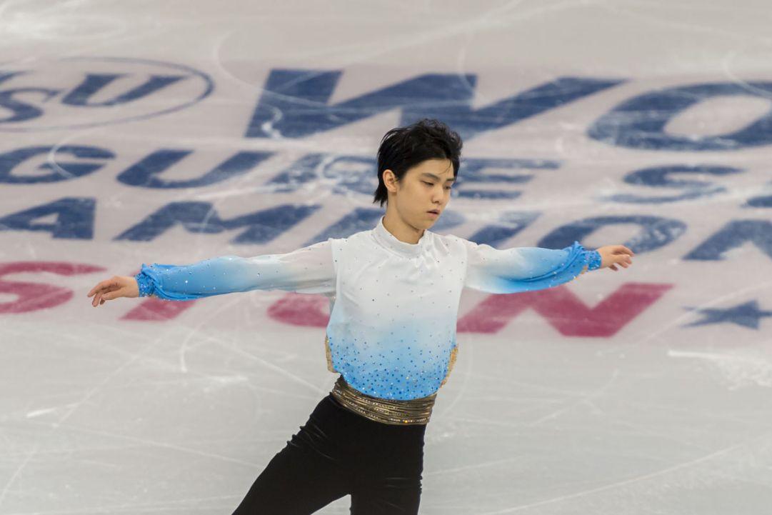 Yuzuru Hanyu detta legge nel programma corto dei Mondiali di Boston