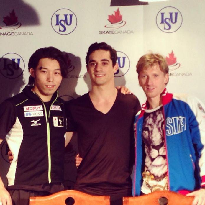 Un buon Javier Fernandez precede Takahito Mura nel corto di Skate Canada