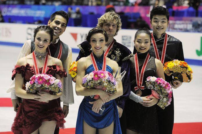 Assolo di Davis/White nella gara di danza del NHK Trophy che ha promosso Cappellini/Lanotte nella finale del Grand Prix