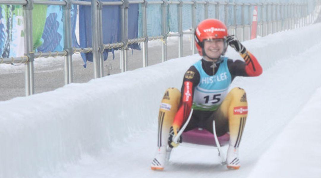Julia Taubitz brilla nei quarti trials ed è ad un passo dalla Coppa del Mondo