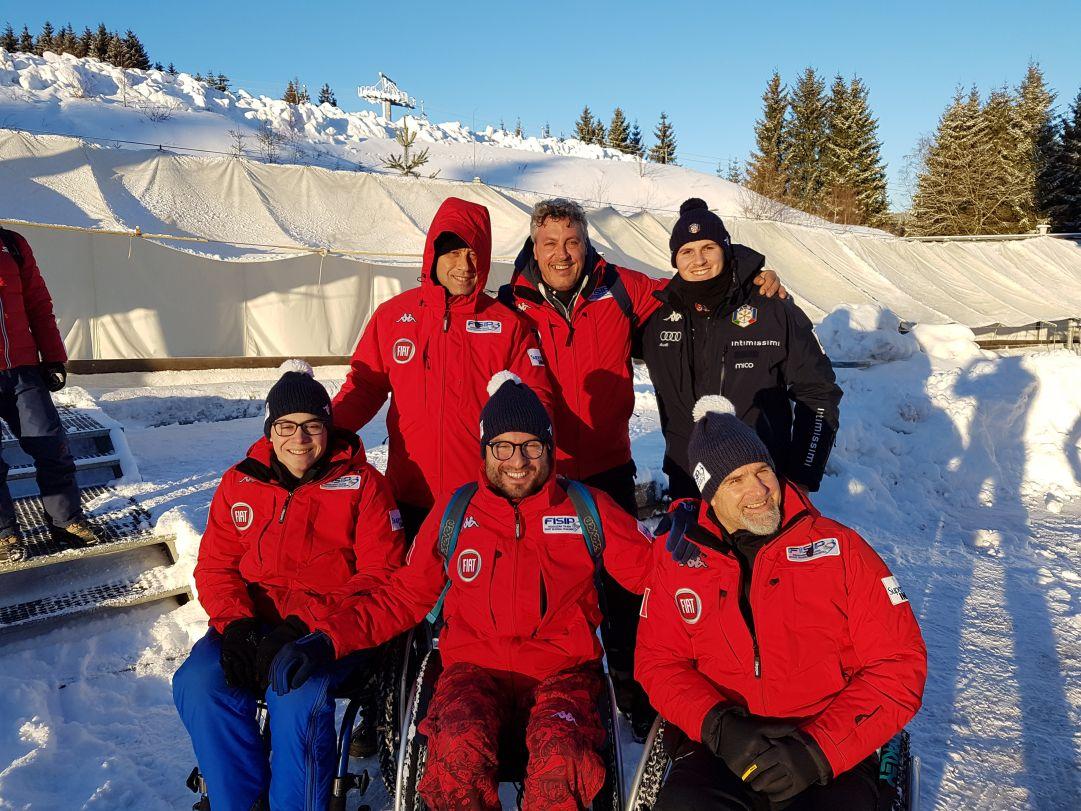 Il Bob Club Cortina ottiene una top ten ad Oberhof nella quarta tappa della Coppa del Mondo di parabob