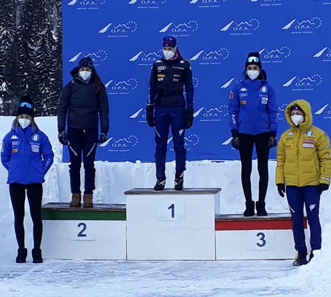 Michela Carrara apre con un successo l'OPA Alpen Cup di Forni Avoltri. Betemps e Trabucchi splendono tra gli Youth