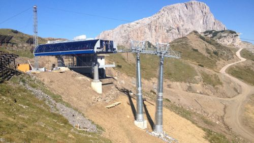 Pramollo, procede senza intoppi la realizzazione della nuova seggiovia a 6 posti sul Sesselbahn
