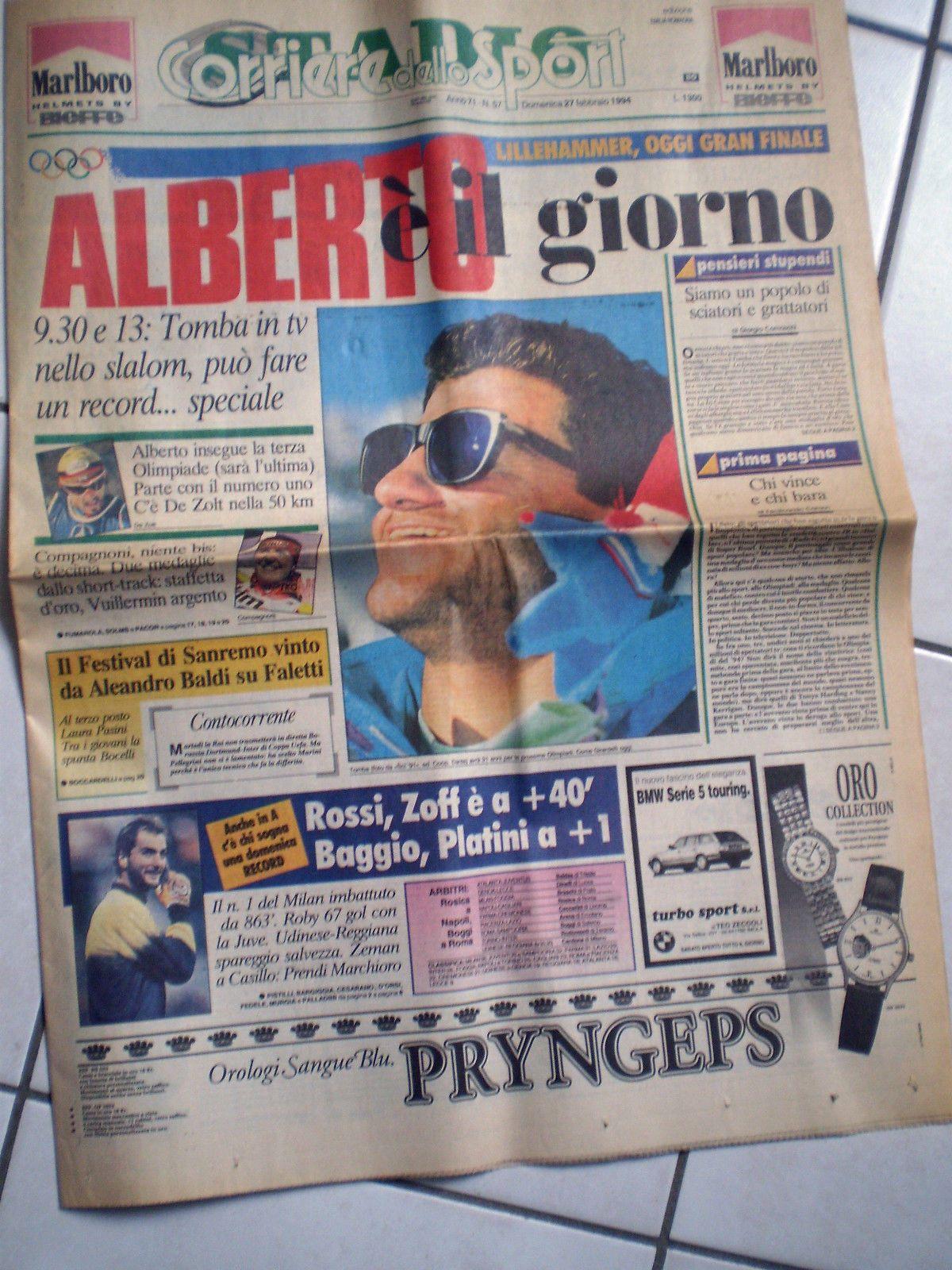 Ovviamente i giornali sportivi dell'epoca non potevano esimersi dal celebrare le sue grandi gesta