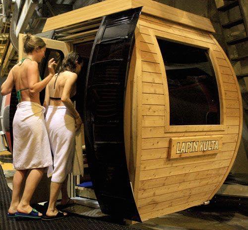In Finlandia la prima cabinova-sauna del pianeta!