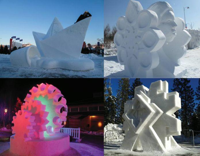 Al via la seconda edizione dello Snow Art di Pontebba: il festival delle sculture di ghiaccio