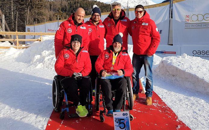 Fabrizio Caselli è quinto a Sankt Moritz nell'ultimo round della Coppa del Mondo di Parabob