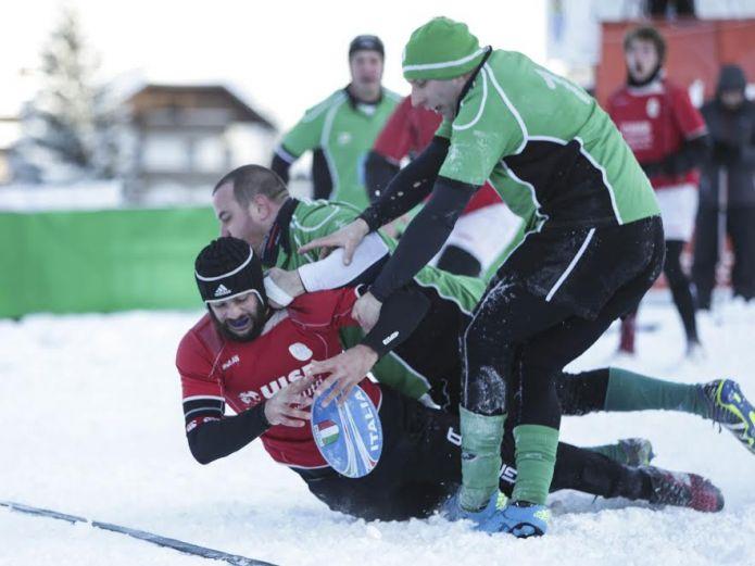 Le squadre straniere dominano la quinta edizione dello Snow Rugby di Tarvisio