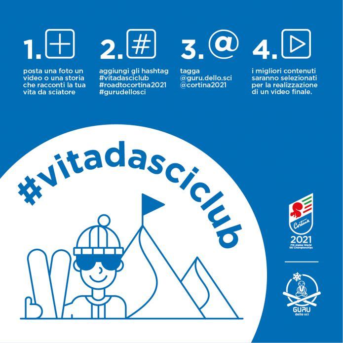 Nasce #vitadasciclub il progetto social per promuovere i mondiali di Cortina 2021