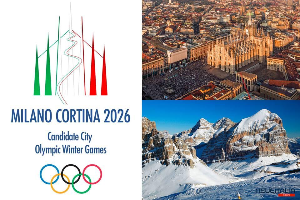 Svelato il logo della candidatura Milano-Cortina 2026