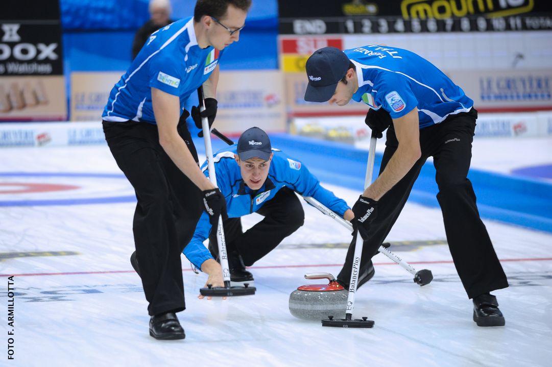 Con Mosaner da skip l'Italia ritrova la vittoria ai Mondiali di curling
