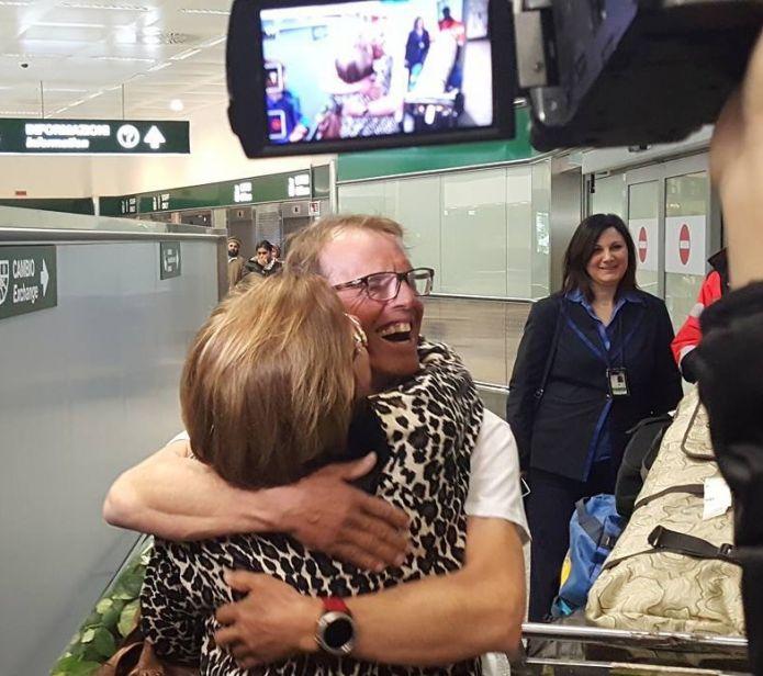 Simone Moro è rientrato in Italia: 'Scalare il Nanga Parbat è come vincere un'Olimpiade'