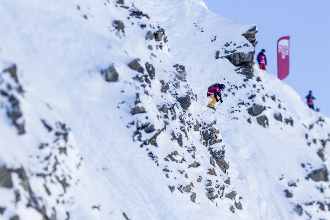 Loic Collomb Patton dà spettacolo nella prima tappa dello Swatch Freeride World Tour 2015 by The North Face a Chamonix