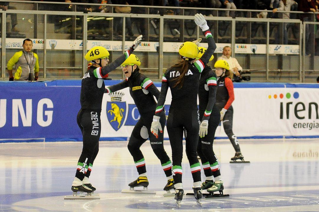 Coppa del Mondo a Torino, festa di bronzo con la staffetta femminile