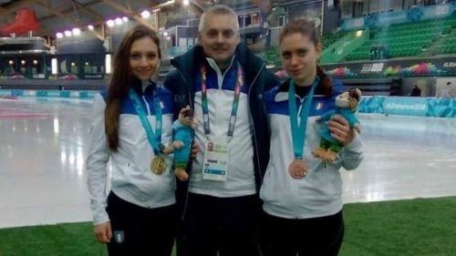 Giochi Olimpici giovanili: doppio podio Italia nel Team Sprint a squadre miste: Bonazza è d'oro, Cristelli bronzo