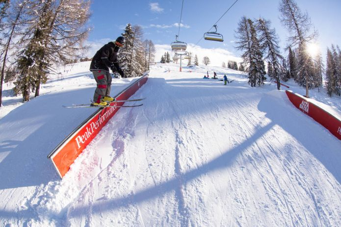 Snowpark Alta Badia: setup creativo ai piedi delle Dolomiti
