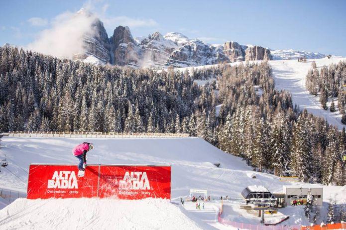Drop in nello snowpark Alta Badia