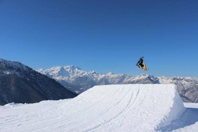 Nobili Snowpark all'Alpe di Mera un setup adrenalinico