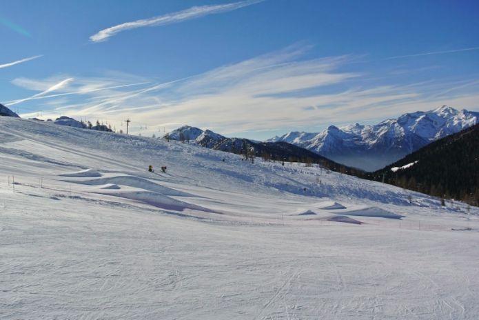 Sanmartino Snowpark: progression park e centro Burton