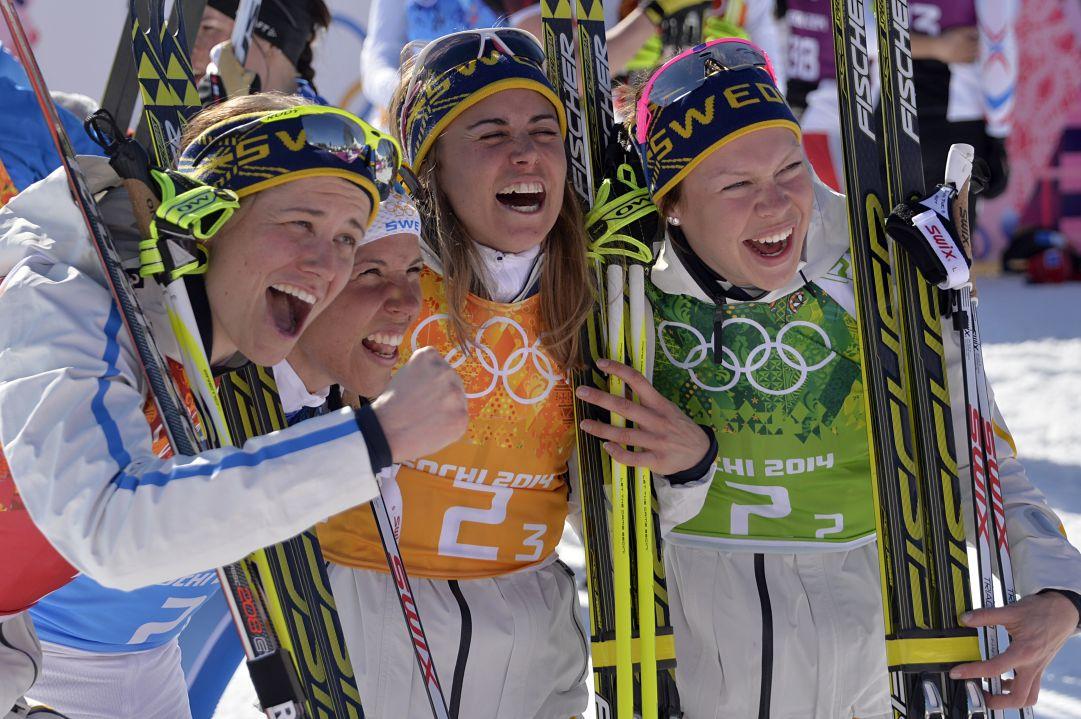 Grandissima sorpresa nella staffetta femminile, è oro per la Svezia!