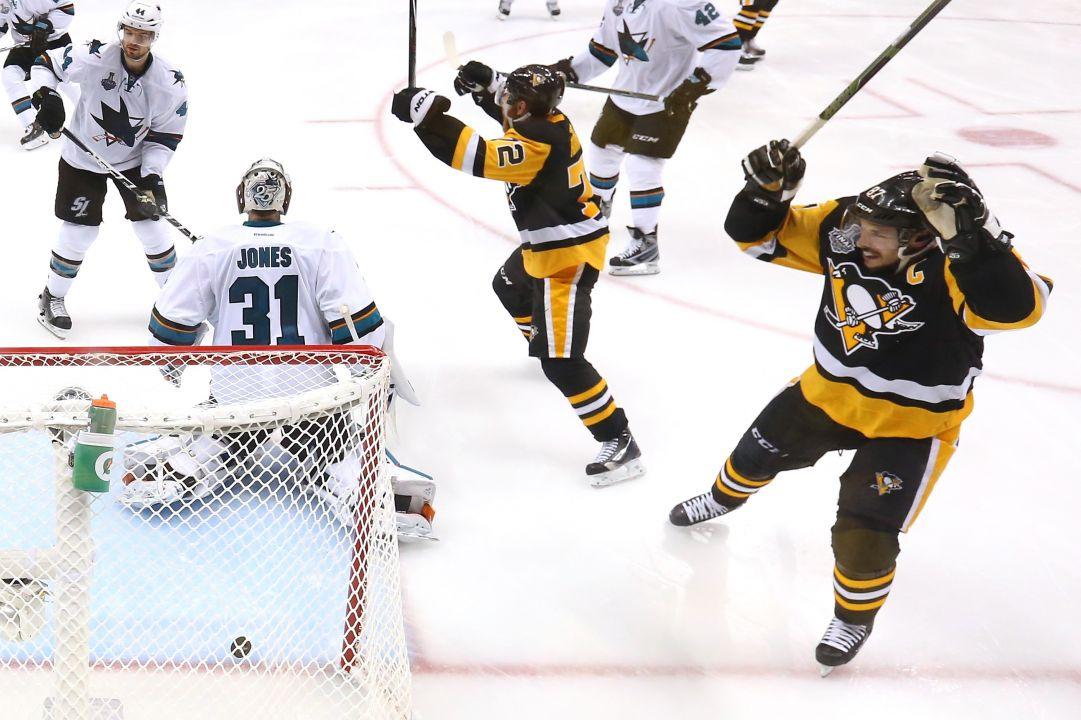 Stanley Cup: Pittsburgh vince anche gara 2, gli Sharks devono inseguire