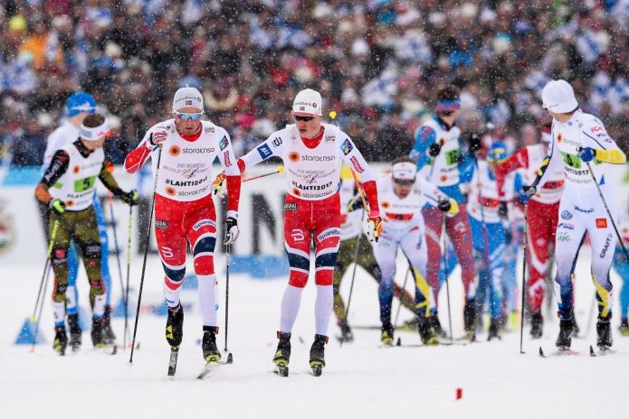 Ingemarsdotter - Dahlqvist e Iversen - Klaebo vincono le Team Sprint di Lahti