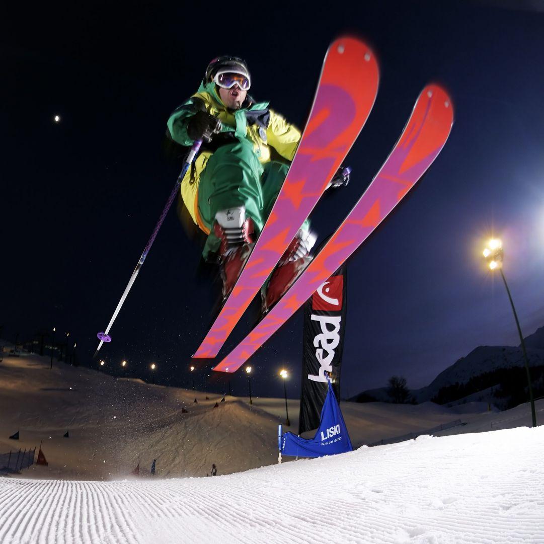 Foto scattata durante l'evento Red Bull Ice Fighters Skier: Andrea Bergamasco 1° class Foto: Matteo Ganora Nikon D300s