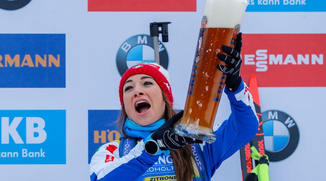 La soddisfazione di Dorothea Wierer: 'E' positivo il fatto che sono arrivata a podio in tre differenti gare'