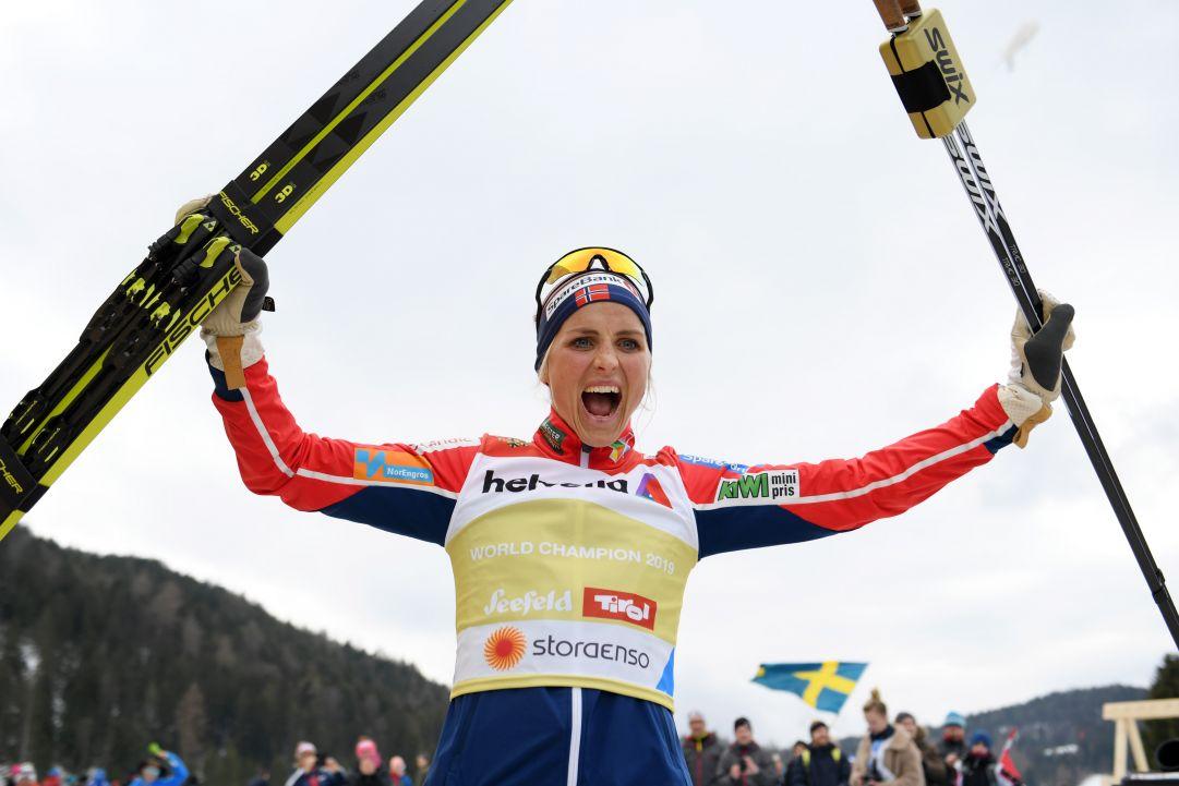 Therese Johaug fa il vuoto nello skiathlon di Lillehammer, Diggins la prima delle altre