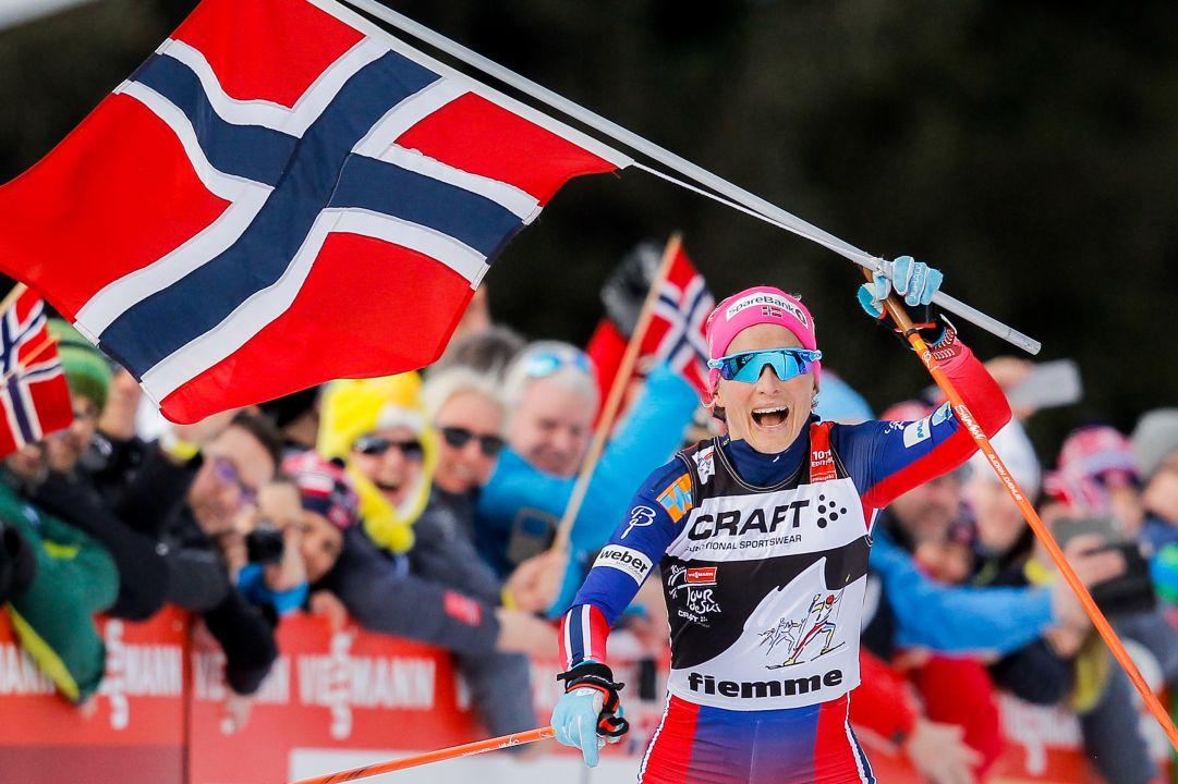 Therese Johaug svetta sul Cermis, la norvegese è la regina del Tour de Ski