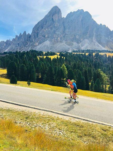 Laura Dahlmeier in allenamento sulle Dolomiti