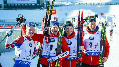 La Norvegia vince per dispersione la staffetta maschile di Oslo-Holmenkollen