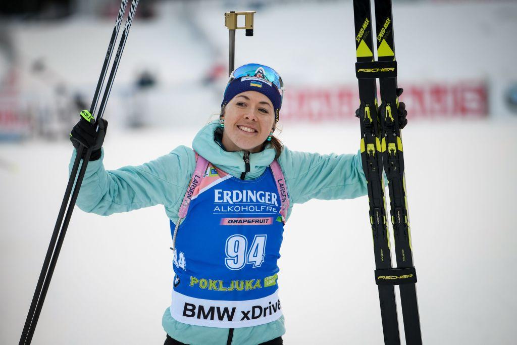 Biathlon: Yuliia Dzhima vince a sorpresa la 15 km di Pokljuka