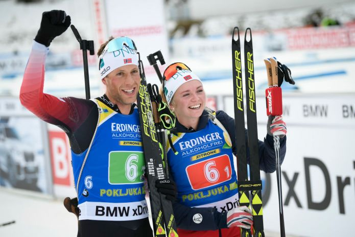 Trionfo norvegese nella Single Mixed di Pokljuka
