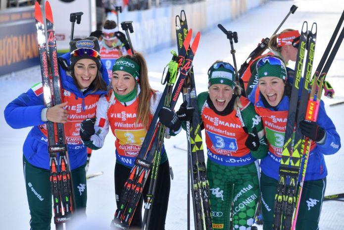 Biathlon: Italia da sogno, le azzurre trionfano nella staffetta di Hochfilzen