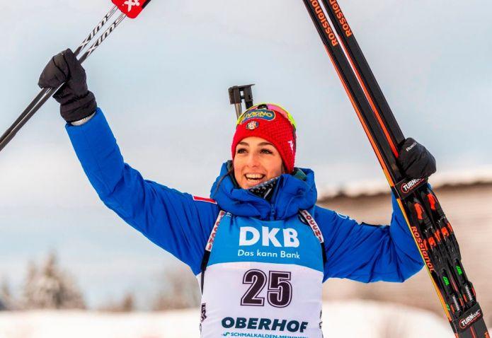 Biathlon: Lisa Vittozzi fa doppietta a Oberhof