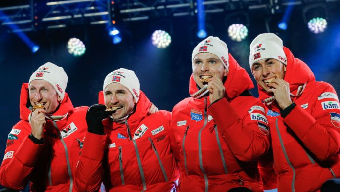 Combinata nordica: la Norvegia vince il titolo mondiale nel Team Event