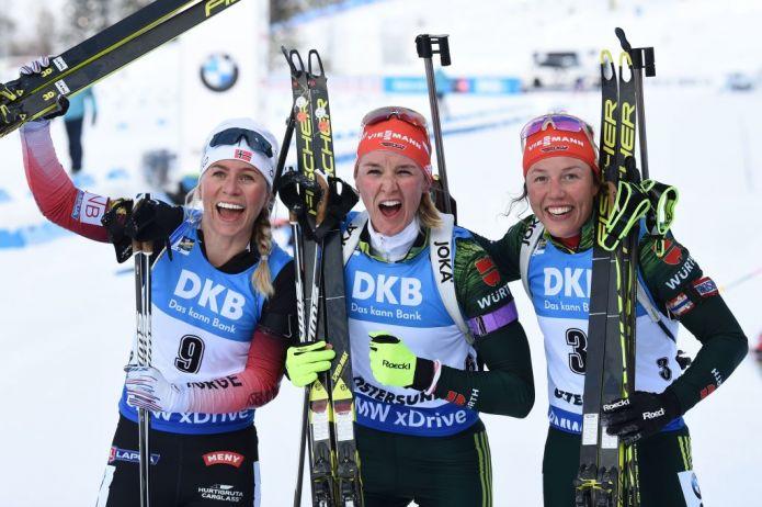 Biathlon: assolo di Denise Herrmann nell'Inseguimento Femminile, 10a Lisa Vittozzi