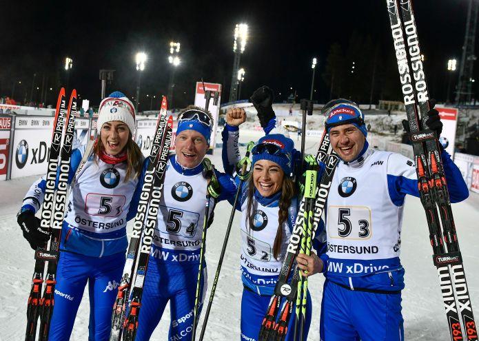 Italia seconda dietro alla Norvegia nella staffetta mista di Östersund!