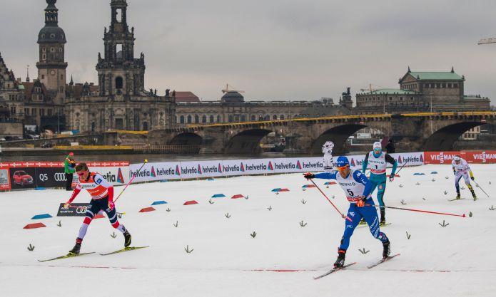 Pellegrino strepitoso a Dresda, stampa Klæbo nel finale e conquista il 10° successo