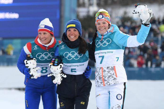 Charlotte Kalla imprendibile nello Skiathlon Femminile, è oro davanti a Marit Bjørgen