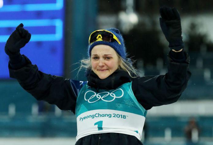 Meravigliosa Stina Nilsson nella Sprint Femminile
