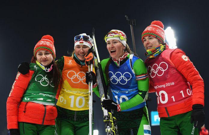 La Bielorussia trionfa nella staffetta femminile, quarto oro olimpico per Darya Domracheva
