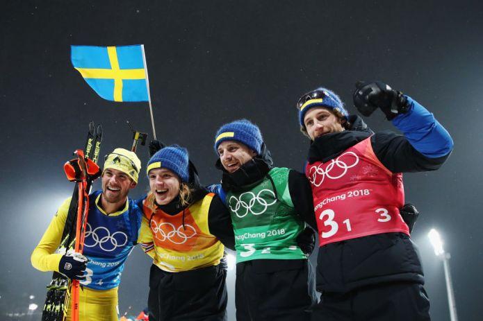 La Svezia trionfa clamorosamente nella staffetta maschile